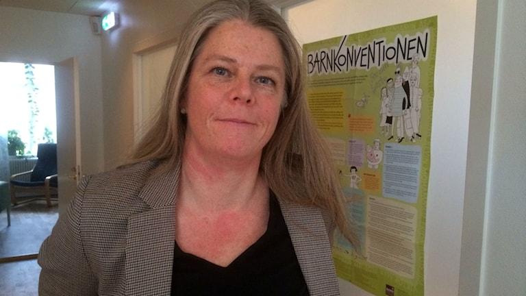 Helen Torstensson enhetschef på Alternativ till Våld. Foto: Tobias Sandblad/Sveriges Radio