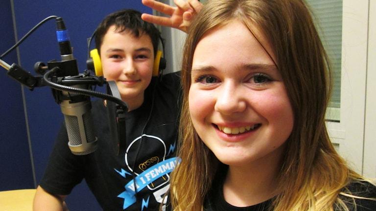 Denis Islamagic och Karolina Järback. Foto: Nick Näslund/Sveriges Radio