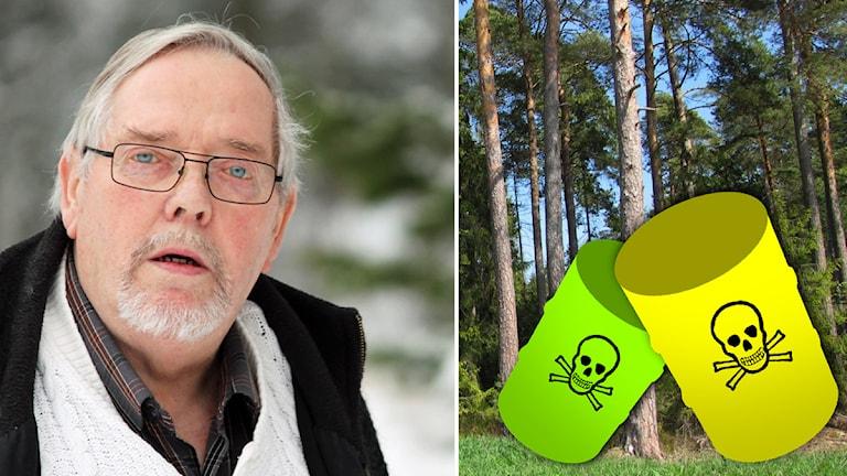 Jonny Evaldsson. Foto: Nick Näslund. Gifttunnor. Illustration: Sveriges Radio