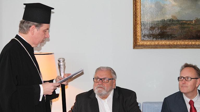 Grekisk-ortodoxa metropoliten Cleopas Strongylis. Foto: Tobias Sandblad/Sveriges Radio