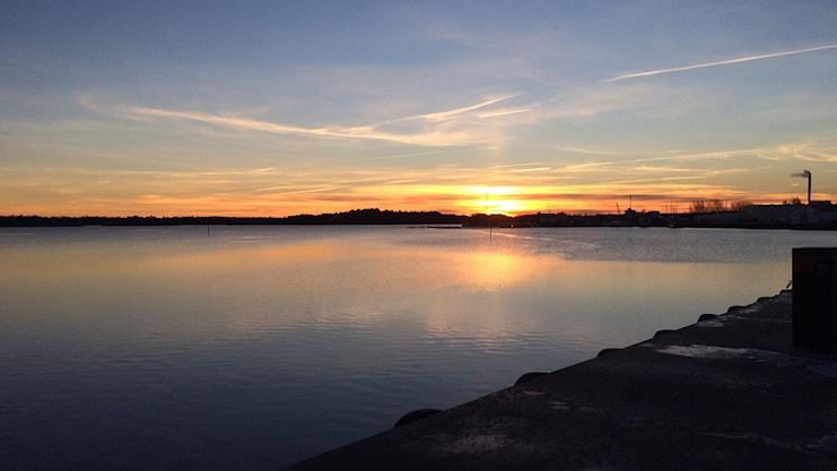 En solig bild från skärgårdsstaden Västervik.