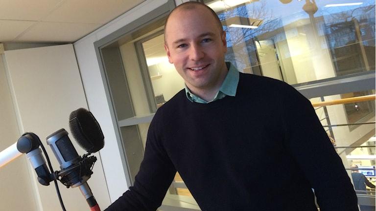 Stefan Larsson i Kalmar FF. Foto: Mari Strålman/Sveriges Radio.
