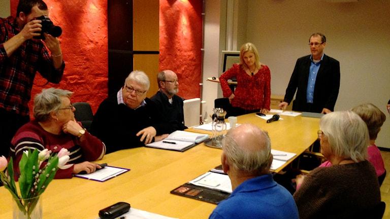Mötet som hölls för träffpuntkernas framtid i Kalmar kommun.