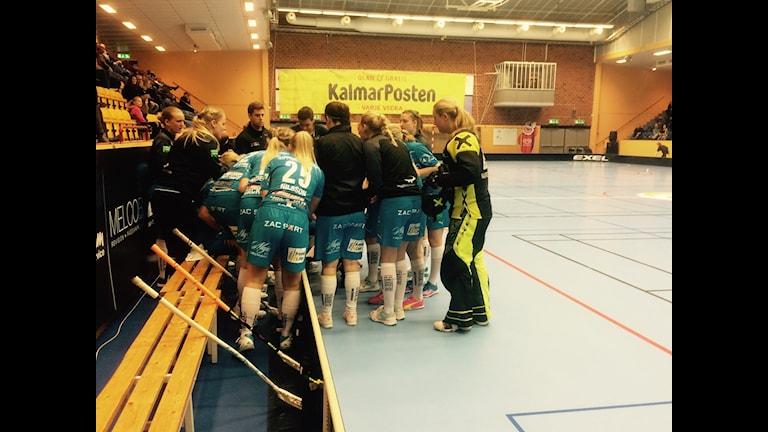 Kalmarsunds time out i slutet hjälpte inte. Foto; Joakim Öhrlin