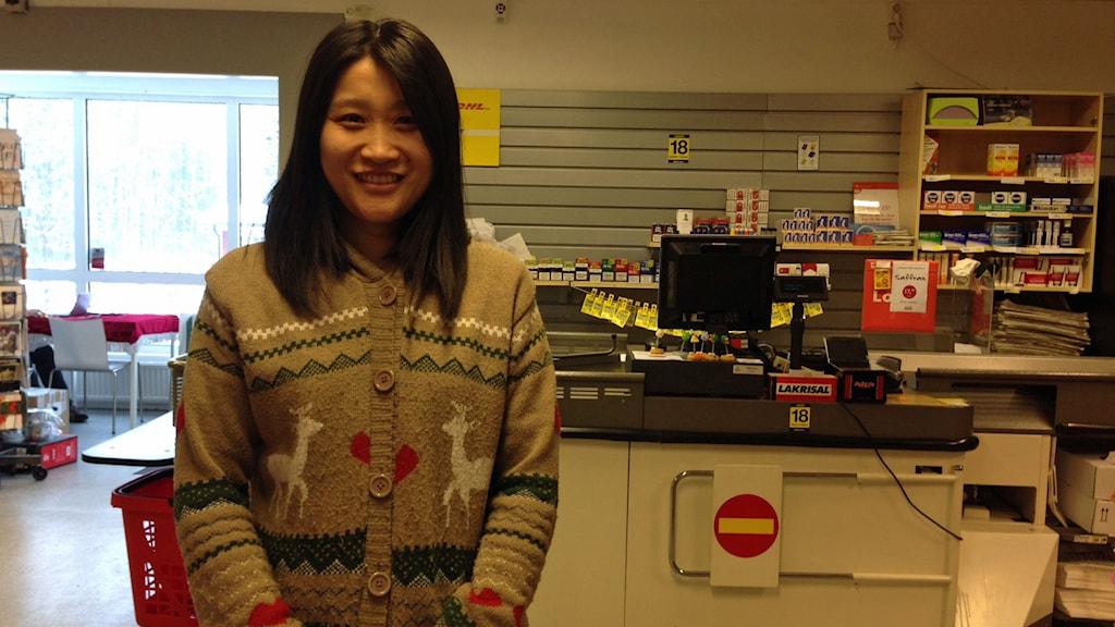Lei Zhang driver affären i Gullabo utanför Torsås.