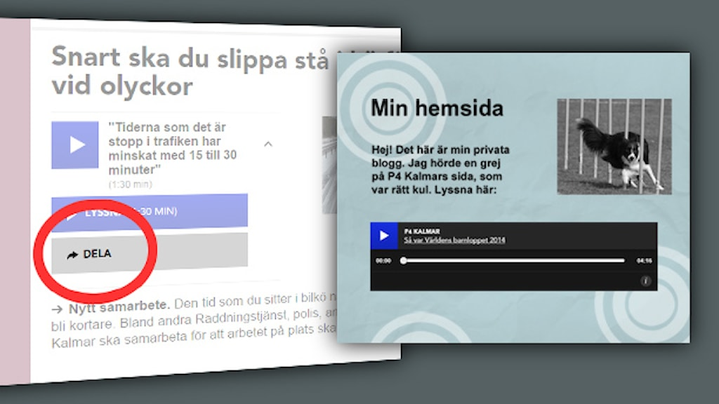 Bädda in ljudklipp. Foto: Sveriges Radio