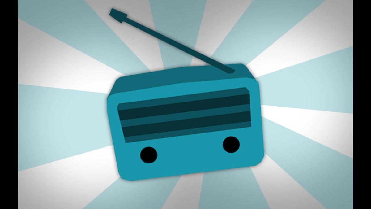 Radioapparat. Illustration: Nick Näslund/Sveriges Radio