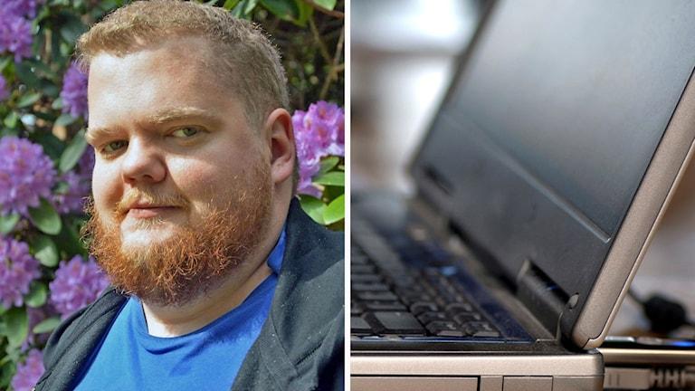 Kollage: Joakim Hammar/laptop.
