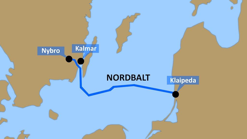 Nordbalts dragning. Grafik: Nick Näslund/Sveriges Radio