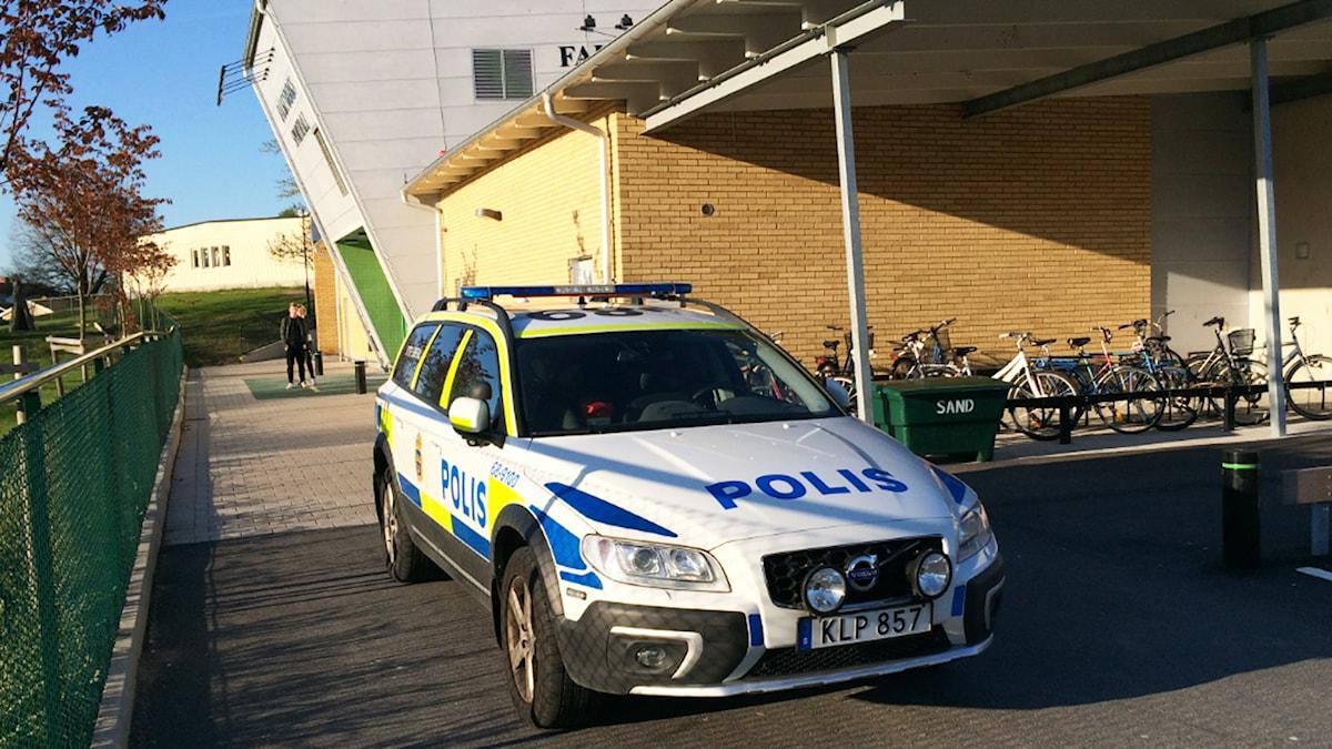 Polisbil. Foto: Niklas Kaldner/Sveriges Radio