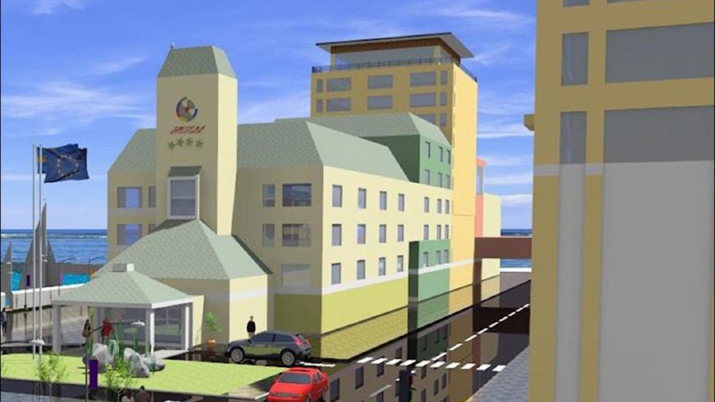 Skiss på planer för Mörbylånga hamn. Foto: Salman Investments