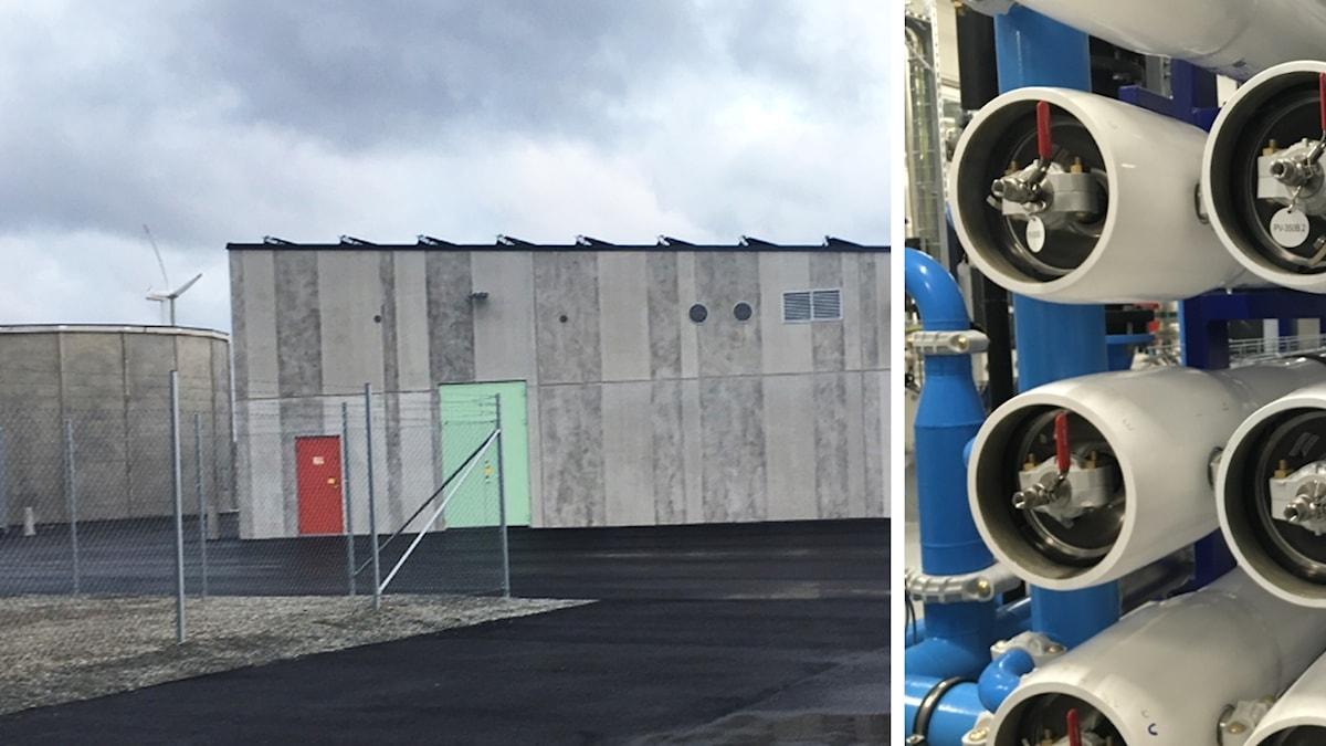 Exteriör av avsaltningsanläggning på Öland
