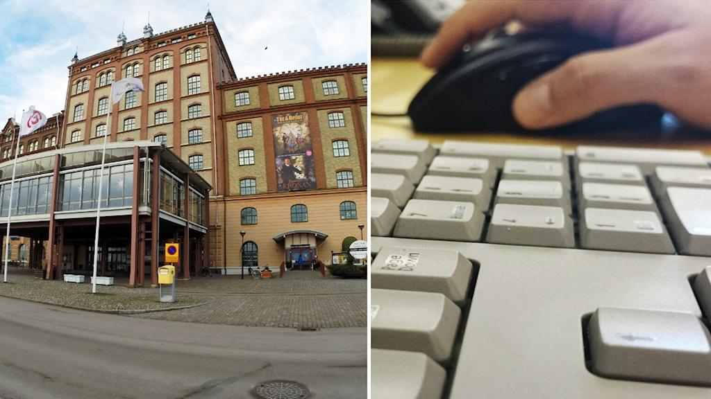 Kalmar läns museum och tangentbord. Foto: Nick Näslund/Sveriges Radio