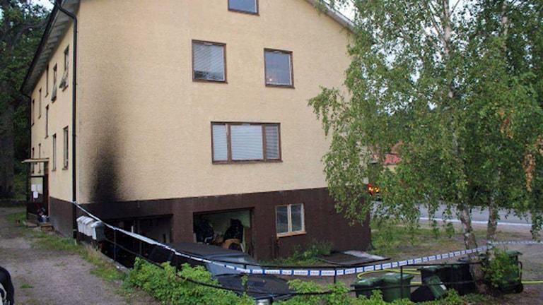 Mordbrand i Överum.