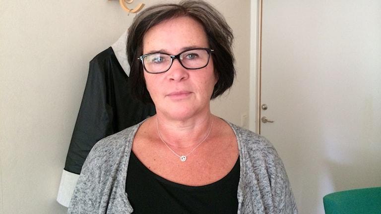 Charlotta Brunner, chefläkare psykiatrin Kalmar läns landsting. Foto: Tobias Sandblad/Sveriges Radio