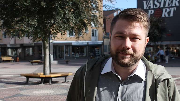 Dan Nilsson (S) kommunfullmäktigeordförande Västervik. Foto: Johanna Lindblad Ahl/Sveriges Radio