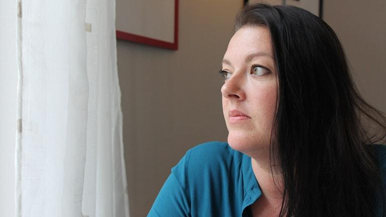 Ylva Sandström (M) Foto: Johanna Lindblad Ahl/Sveriges Radio.
