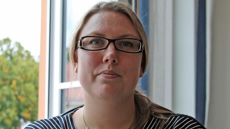 Marie C Nicholson, Moderaternas gruppledare Vimmerby. Foto: Johanna Lindblad Ahl/Sveriges Radio