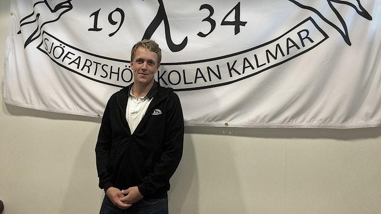 Johan Sjöstrand, ordförande i studenternas förening.