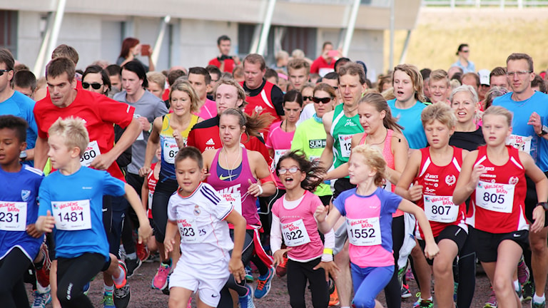 Världens barnloppet. Foto: Nick Näslund/Sveriges Radio
