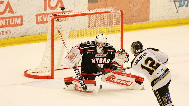 Vimmerby hade en lätt resa i Victoriahallen //Foto: Magnus Ekeros/Sveriges Radio