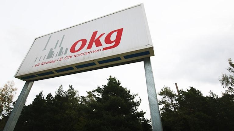 OKG-skylt. Foto: Nick Näslund/Sveriges Radio