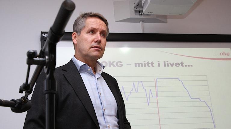 Johan Svenningsson, vd på OKG. Foto: Leif Johansson/Sveriges Radio