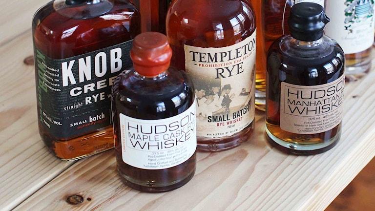 Whiskyflaskor. Foto: Matthew Mead/TT