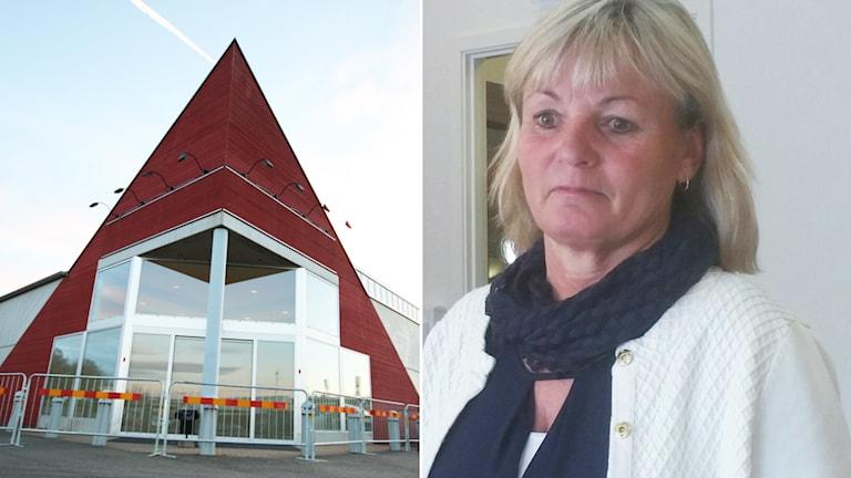 Entré och Annette Andersson, kommundirektör Kalmar. Foto: David Baujard/Sveriges Radio.