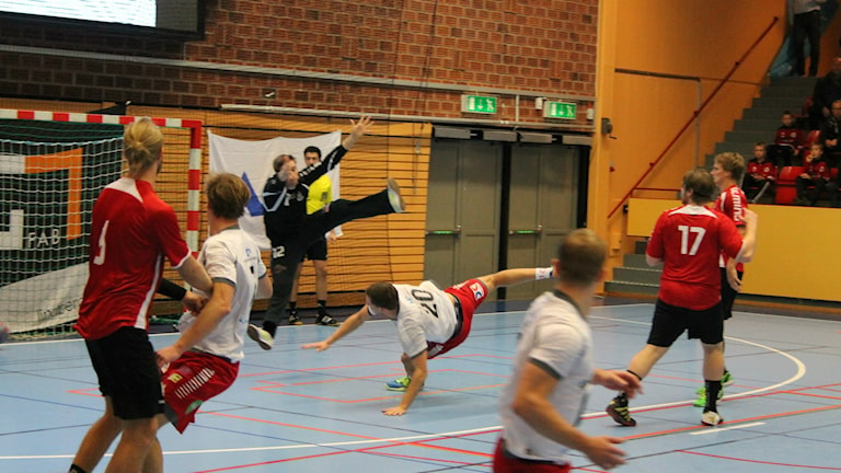 Alstermo IF möter HP Warta i Kalmar Sportcenter. Foto: Viola Lindberg/Sveriges radio.