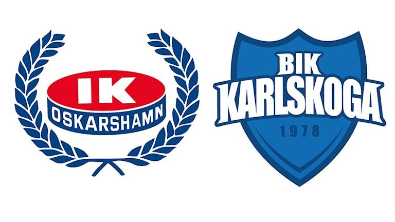 Klubbmärken IK Oskarshamn BIK Karlskoga