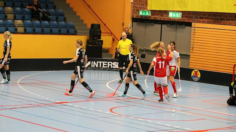 Tung förlust för Kalmarsunds damer. Partille vann med 6-5. Foto: Faton Pasho / SR
