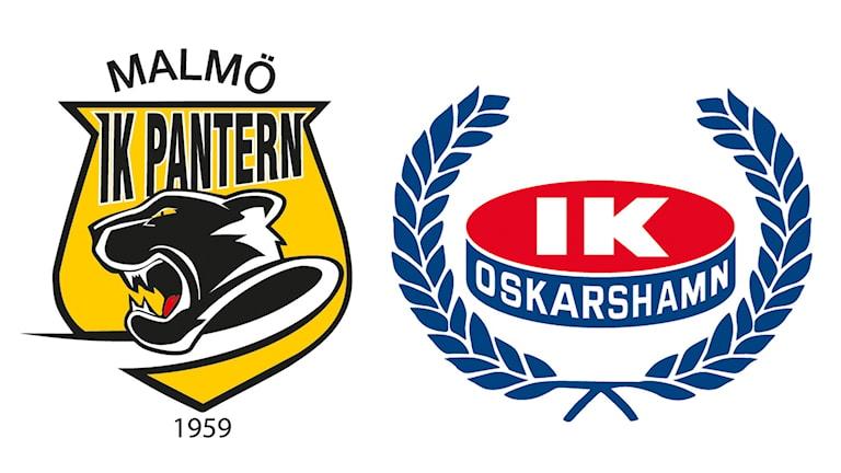 Panterns och IK Oskarshamns klubbmärken