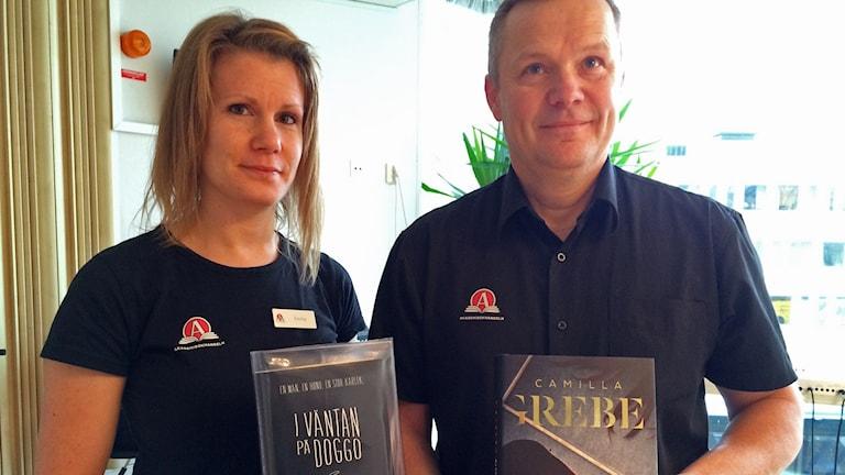 Emma Andersson och Håkan Jonsson. Foto: Maria Skagerlind/Sveriges Radio