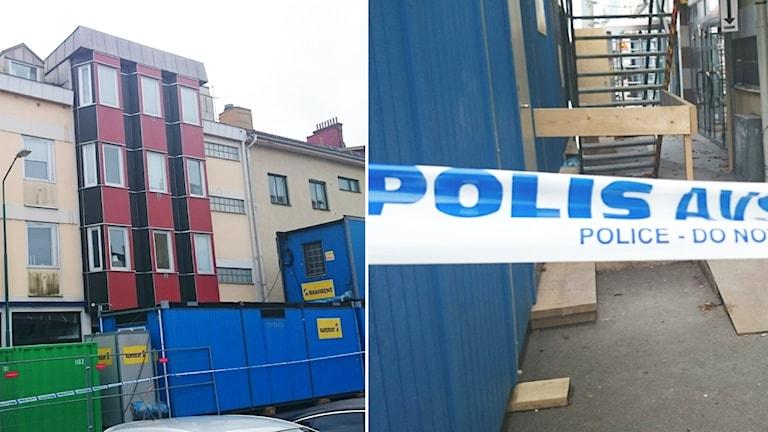 Polisavspärrningsband. Foto: Nick Näslund/Sveriges Radio