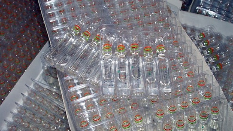 Det var tillverkning av anabola steroider som gjordes i fabriken.