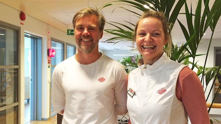 Daniel Strandberg och Mita Andersson. Foto: Maria Skagerlind/Sveriges Radio