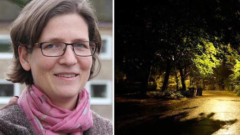 Kollage: Psykiatrikern Verena Åhlin vet hur du klarar höstmörkret. Foto: Leif Johansson Sveriges Radio/TT