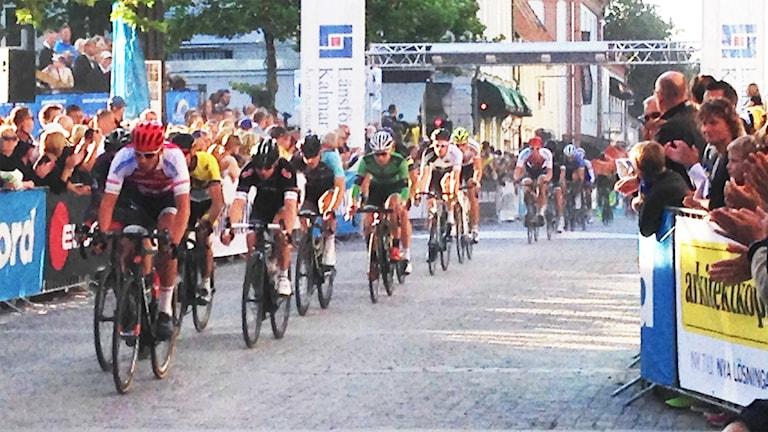 Kalmar Grand Prix på Kvarnholmen. Foto: David Baujard, Sveriges Radio.