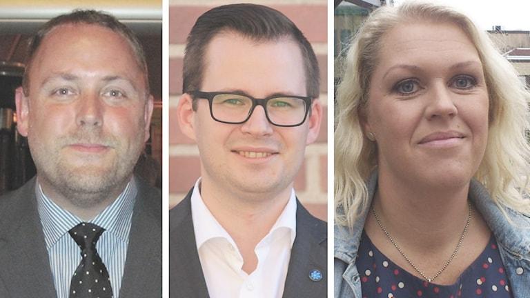 Jan R Andersson, Mattias Bäckström Johansson och Lena Hallengren. Foto: Sveriges Radio