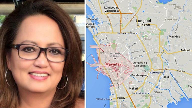 Leonnie Ingholt kom till Sverige från Manila i Filippinerna.