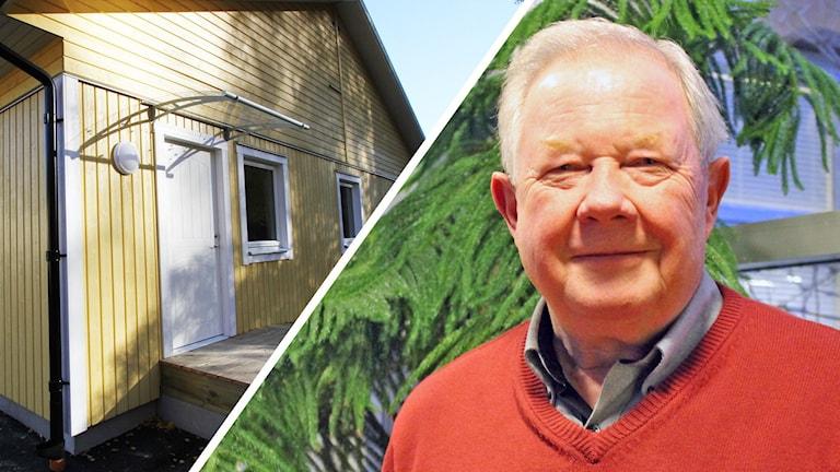 Modulhus och Roland Åkesson Foto: Leif Johansson och Johanna Lindblad Ahl/Sveriges Radio