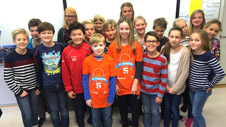 Rinkabyholmsskolan 5c. Foto: Mari Strålman/Sveriges Radio