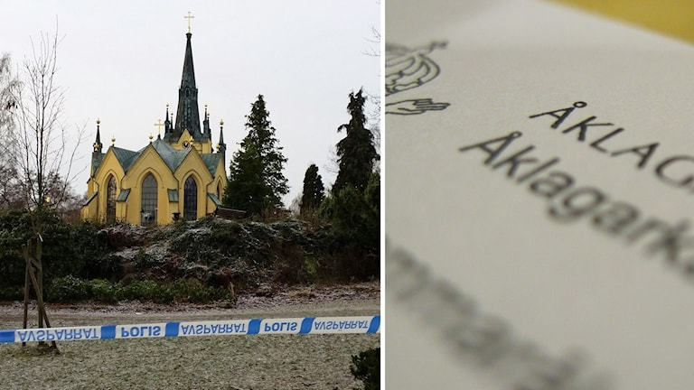 Kollage: Stadsparken i Oskarshamn, åklagarmyndigheten