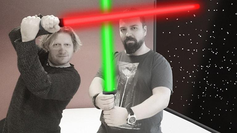 Adam Lindrooz och Tony Långström. Foto: Nick Näslund/Sveriges Radio