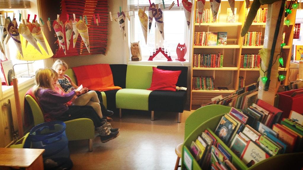 Bibliotek. Foto: Marcus Johannesson/Sveriges Radio