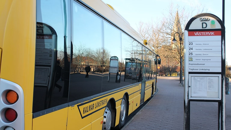 Buss KLT Västervik resecentrum. Foto: Johanna Lindblad Ahl/Sveriges Radio