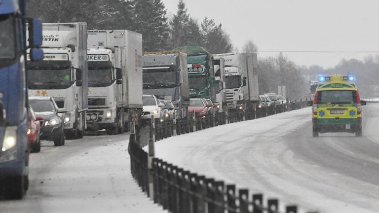 Trafikolycka. Foto: Helmuth Petersson