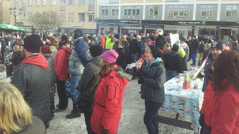 Manifestation vimmerby. Foto: Pernilla Emilsson