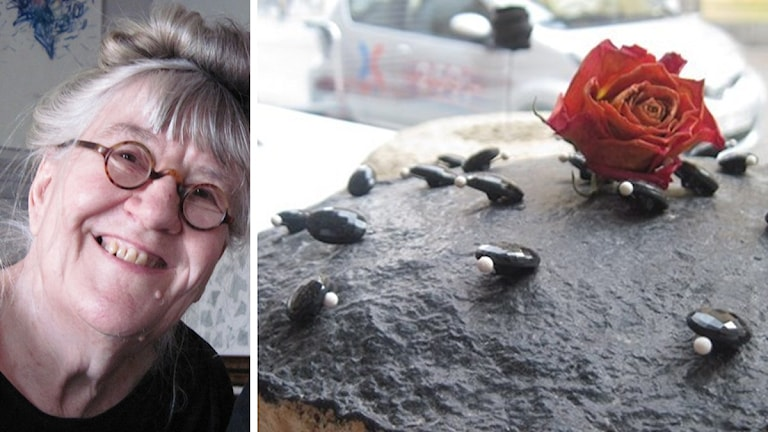 Dyngbaggar, sköldpaddsbarn eller små pingviner? Dekoren på Gunilla Skyttlas tårta gäckar fantasin. Foto: Erika Norberg/Sveriges Radio